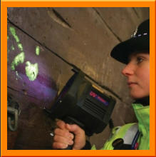 Labino Forensic Lighting ALS - TrAc Finder in use by the Police