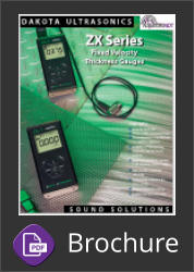 The Dakota ZX-1 & ZX-2 basic fixed velocity ultrasonic thickness gauges Brochure Button