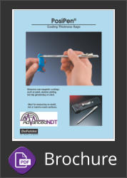 Defelsko PosiPen Coating Thickness Gauge Brochure Button