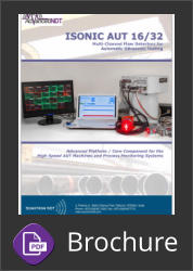 Sonotron ISonic 16/32 AUT Ultrasonic Multi Channel Flaw Detector for Automatic Ultrasonic Testing | Brochure Button