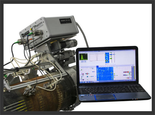 Sonotron ISonic PA AUT for Automatic Ultrasonic Inspections (AUT) Systems shown in action testing pipelines