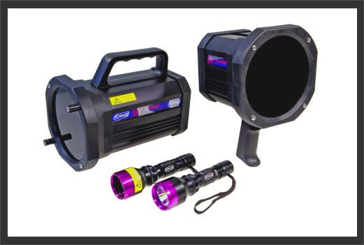 Labino a few of the range of UV Lights and torches